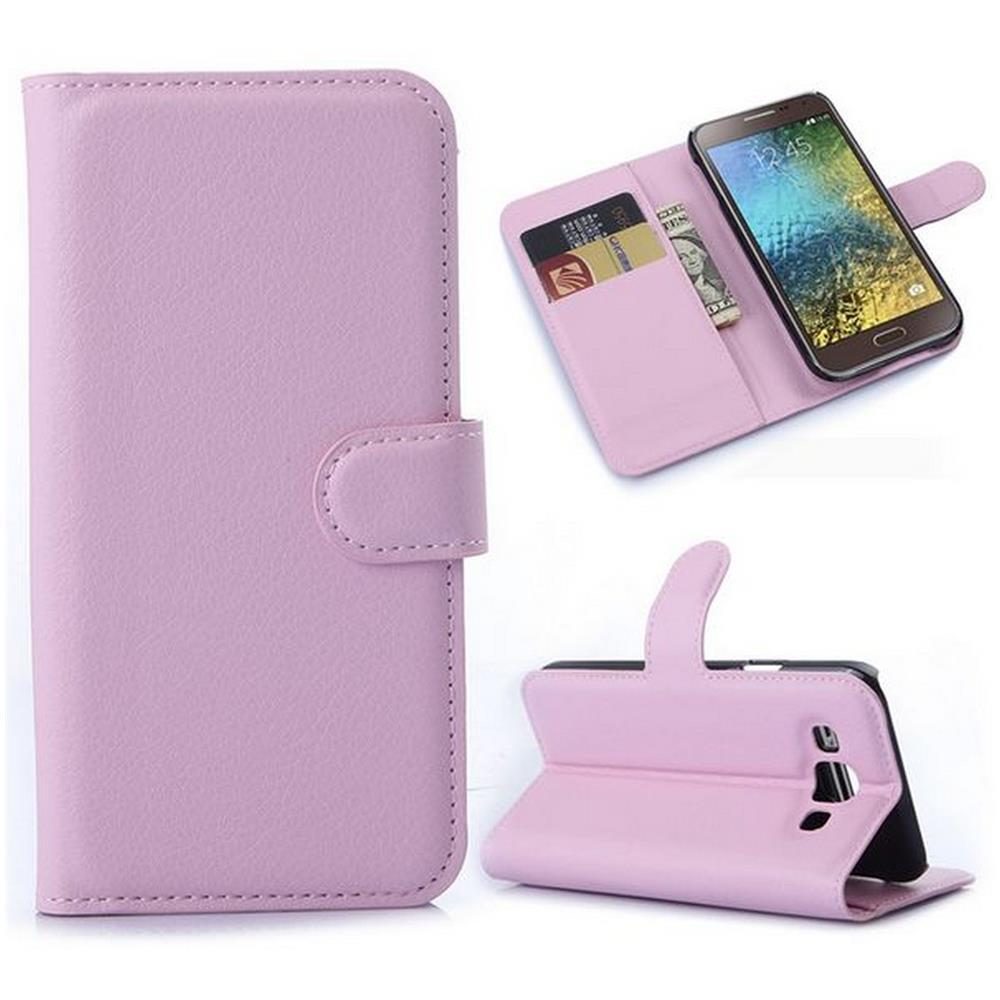 Digital Bay Custodia Portafogli Rosa Per Samsung Galaxy E5 E500 Sm E500f Pellicola E Panno