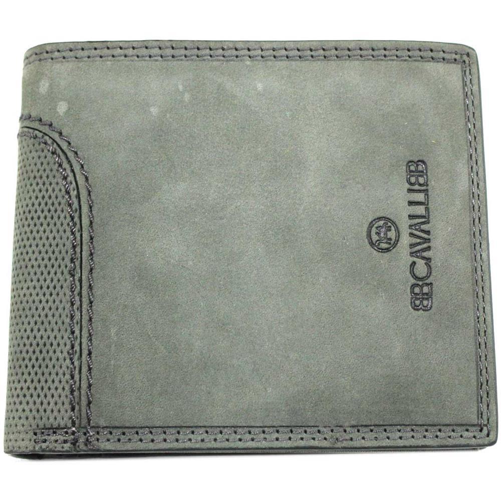 2507ebb4f0 BCAVALLI - Portafoglio Uomo Pelle Modello Con Portamonete E Ribaltina  715-292 Nero - ePRICE