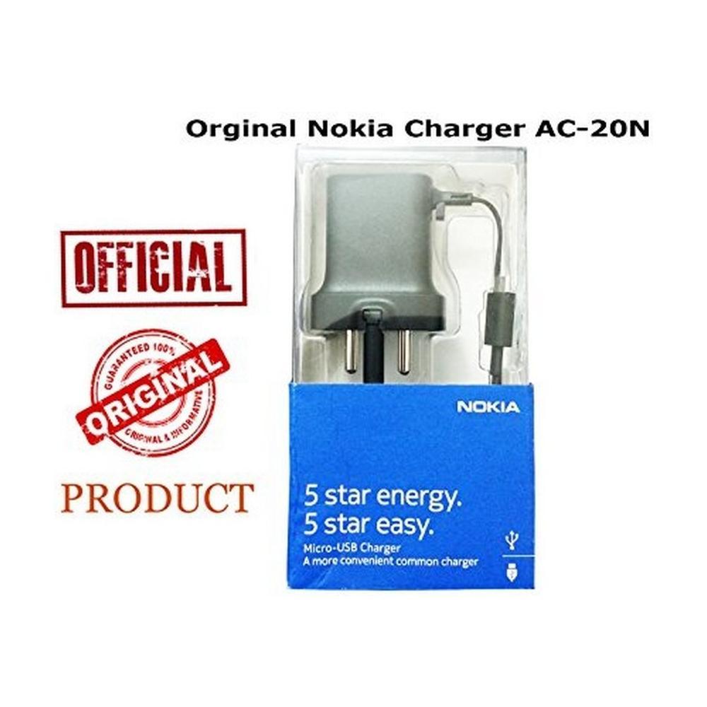 Nokia AC 20E Caricabatterie da viaggio originale Nero