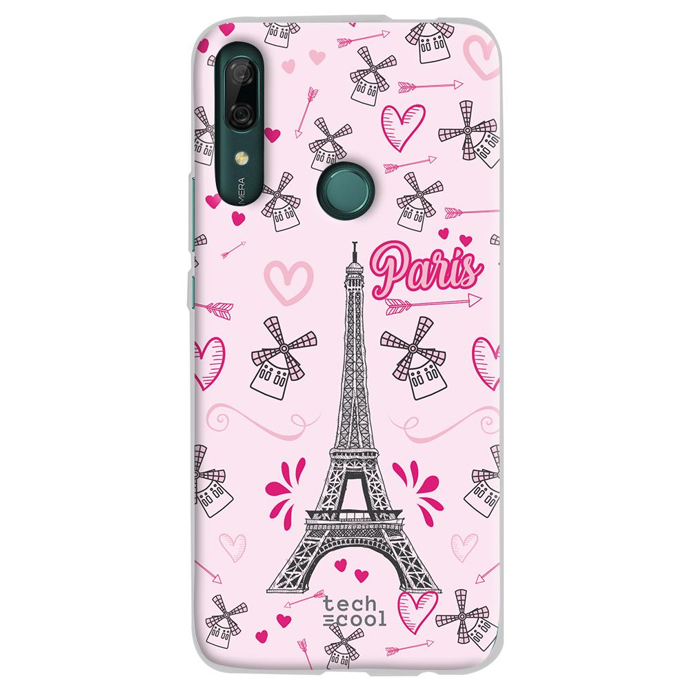 TECHCOOL Custodia Per Huawei P Smart Z L Cover Silicone Torre Eiffel Di Parigi