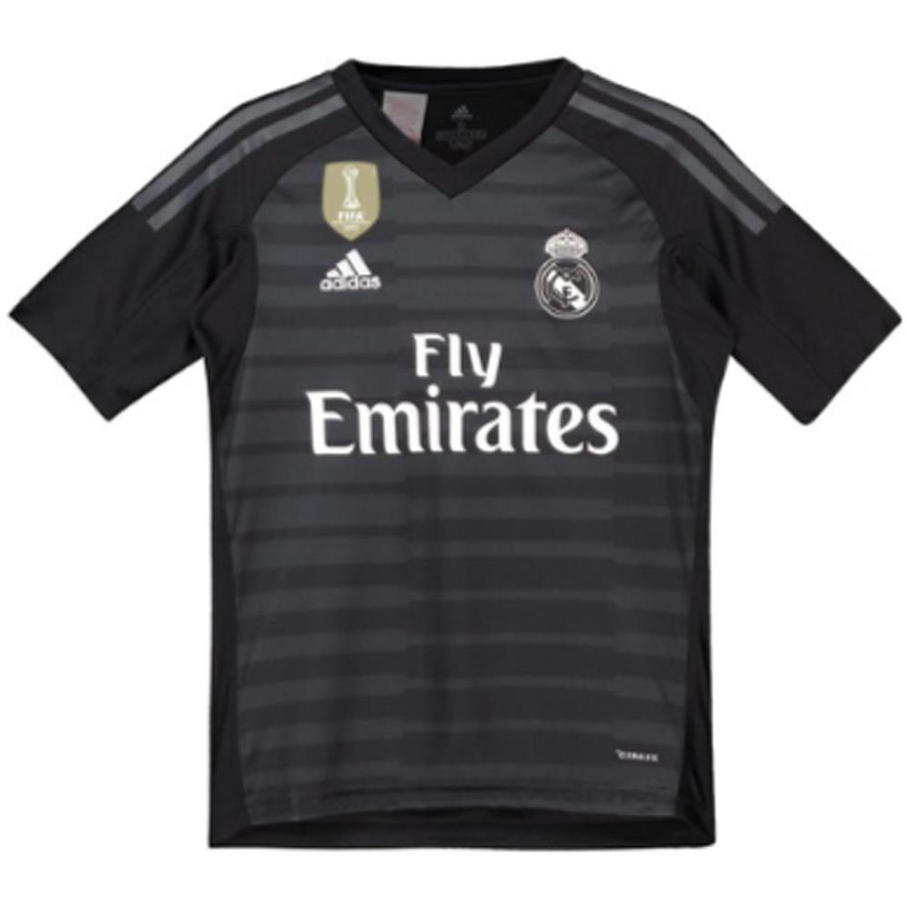 promo code 51fb9 d88a0 adidas - 2018-2019 Real Madrid Adidas Home Goalkeeper Shirt (kids) - S  Bambino 26-28   inch - 71cm - 7 8 Anni - ePRICE