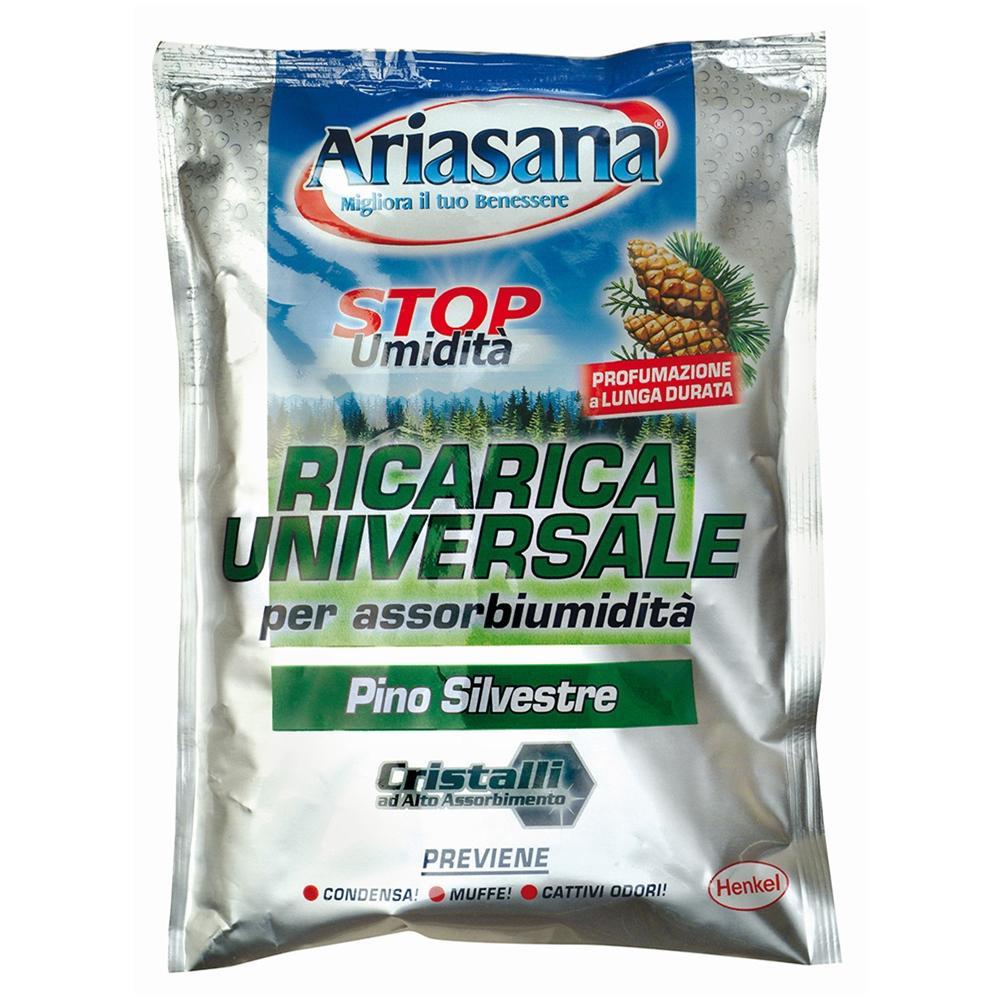 12 pz ARIASANA RICARICA UNIVERSALE per Assorbiumidità sali Pino Silvestre 450 gr