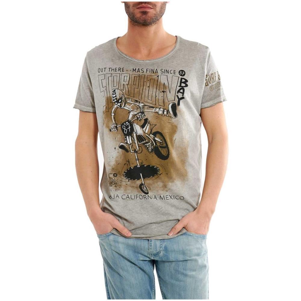 Leggera Eprice Uomo Stampa T Grigio L Bay Shirt Scorpion Moto pzMSUVq