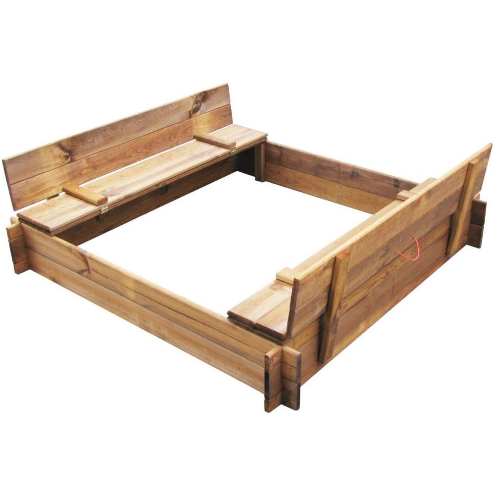 Vidaxl Sabbiera Quadrata In Legno Impregnato