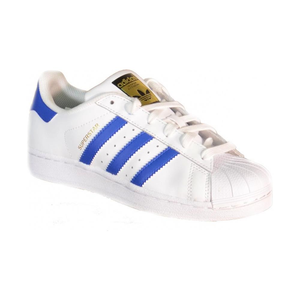 Adidas Superstar Foundation J Scarpe Sportive Donna Bianche Blu S74944 38 5a796cbb944