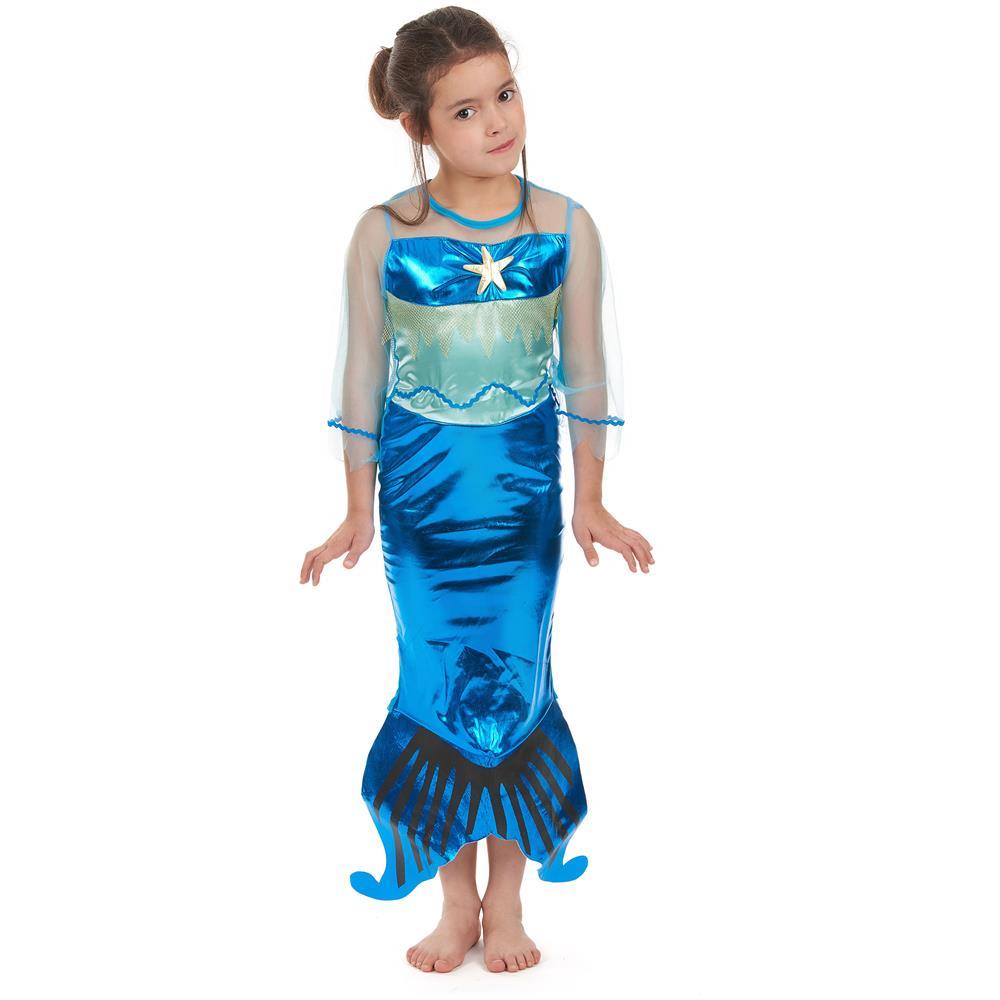 prezzo scontato più foto a basso costo JADEO Costume Da Sirena Per Bambina Colore Turchese 4 - 6 Anni (s)