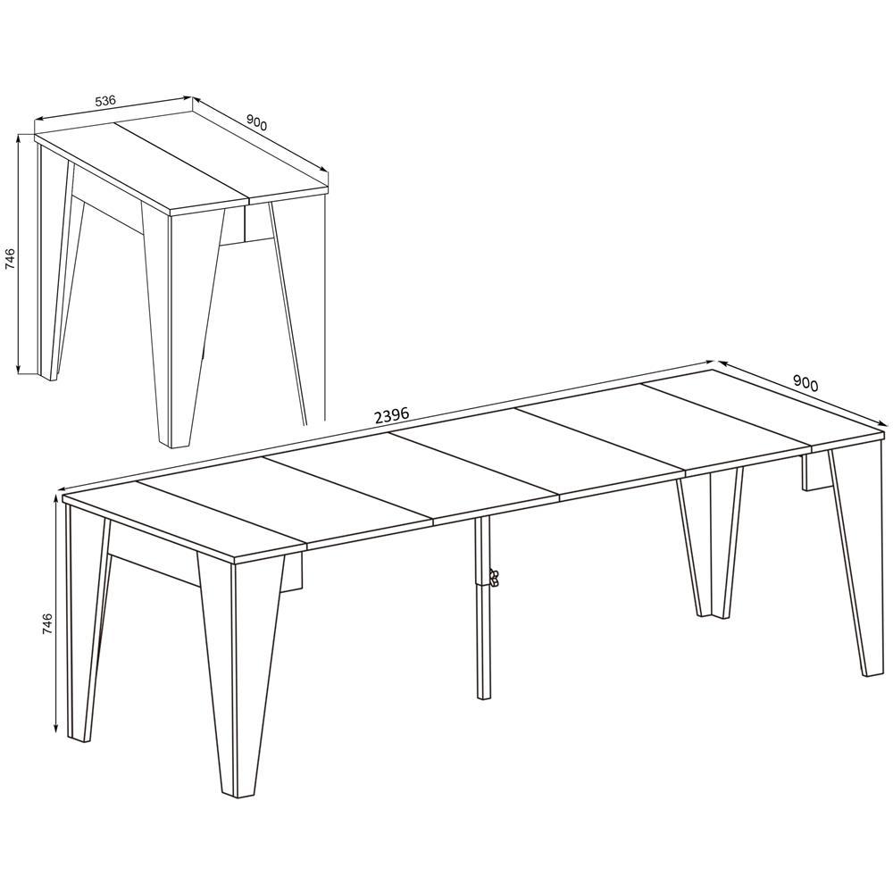 Dimensioni Tavolo Sala Da Pranzo innovation tavolo tm, consolle del tavolo da pranzo allungabile fino a 239  cm, bianco, dimensioni chiuso: 90x53,6x74,6x74,6 cm di altezza.