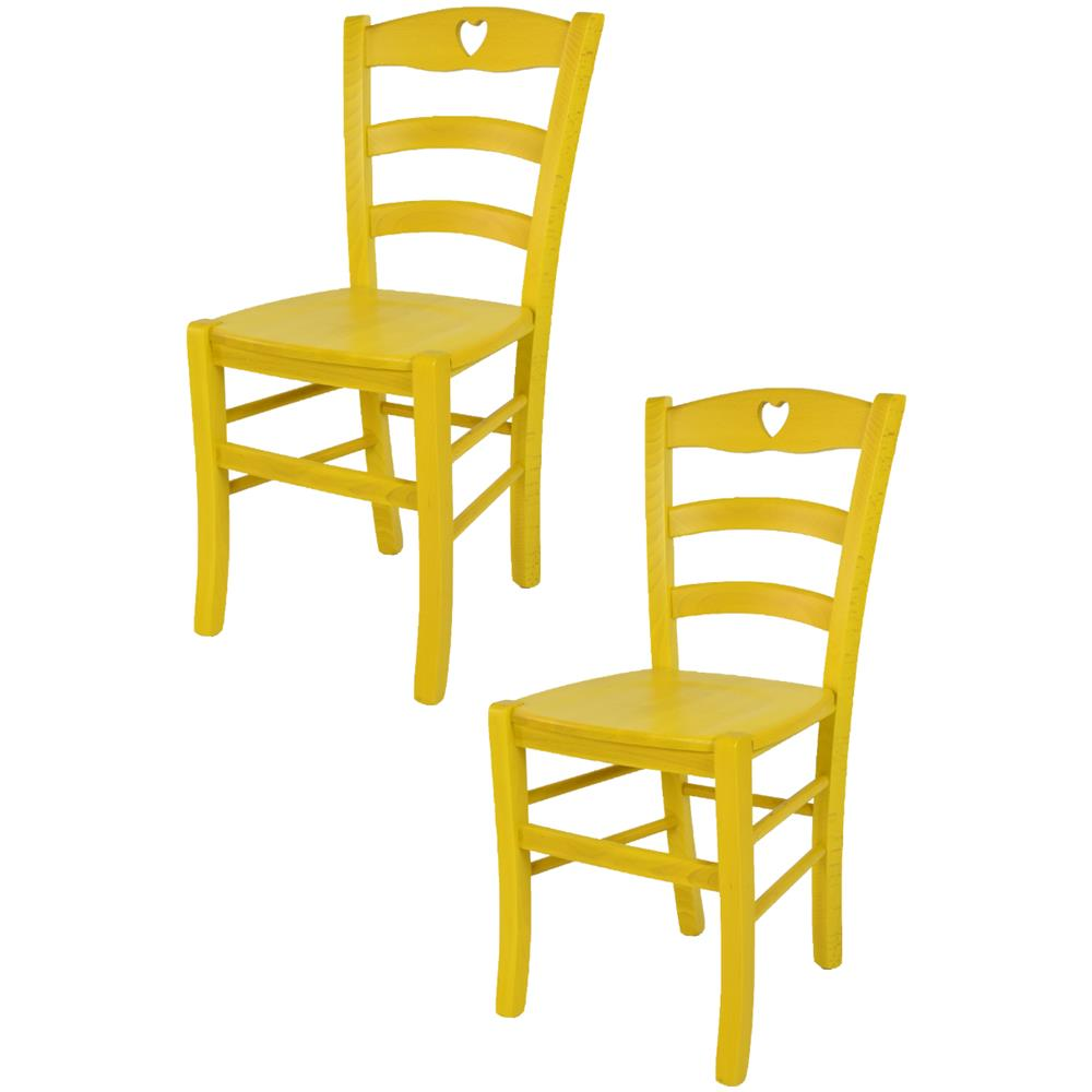 Tommychairs - Tommychairs - Set 2 Sedie Classiche Cuore Per Cucina ...