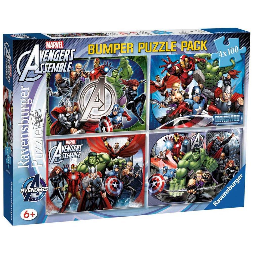 07076 - Bumper Puzzle Pack 4x100 Pz - Avengers