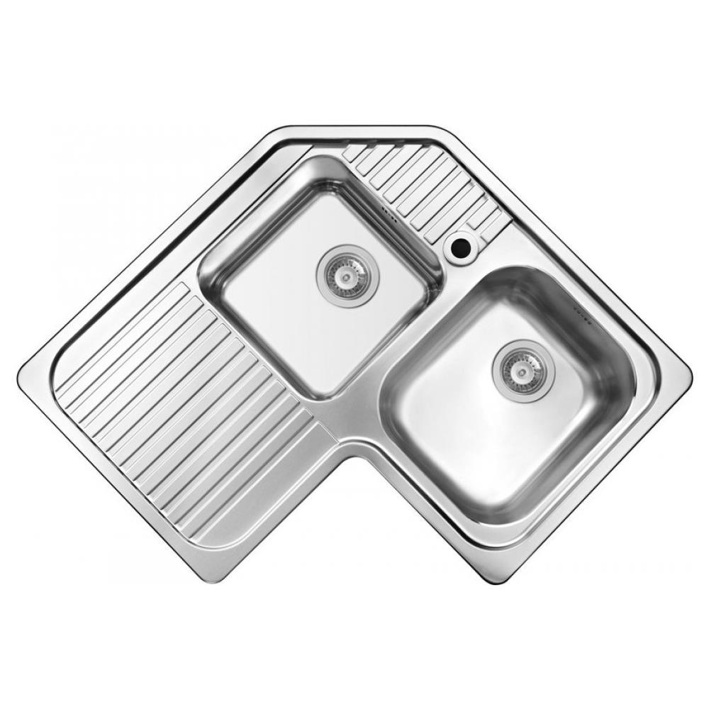 Lavandino Cucina Con Gocciolatoio elleci sky lavello angolare 2 vasche con gocciolatoio dimensioni 83 x 83 cm  colore grigio