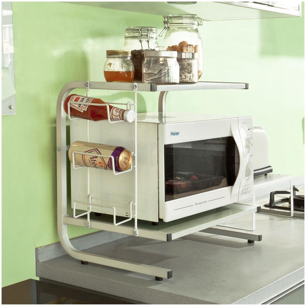 SoBuy FRG092-W,Mensola per forno a microonde, Mensola da cucina ...
