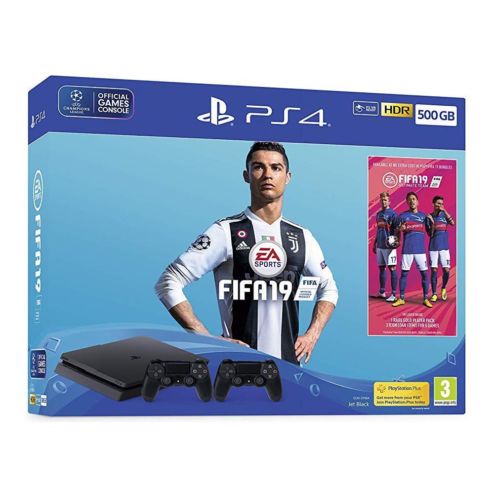 Console Playstation 4 500 GB Slim + FIFA 19 + Secondo Controller DS4