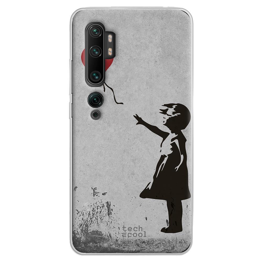Techcool Cover, Custodia Per Huawei P40 Lite L Silicone Banksy Graffiti Giovane Globo
