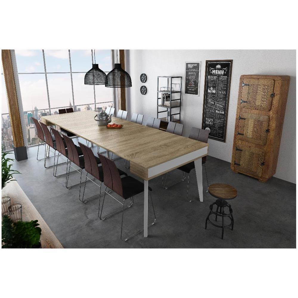Tavolo Pranzo Bianco.Innovation Home Innovation Nordic K Tavolo Pranzo E Soggiorno Rettangolare A Consolle Allungabile Fino A 300 Cm Stilo Scandinavo Finitura Bianco