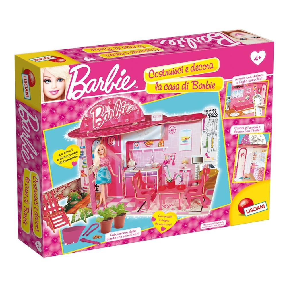 lisciani giochi barbie costruisci e decora la mia casa