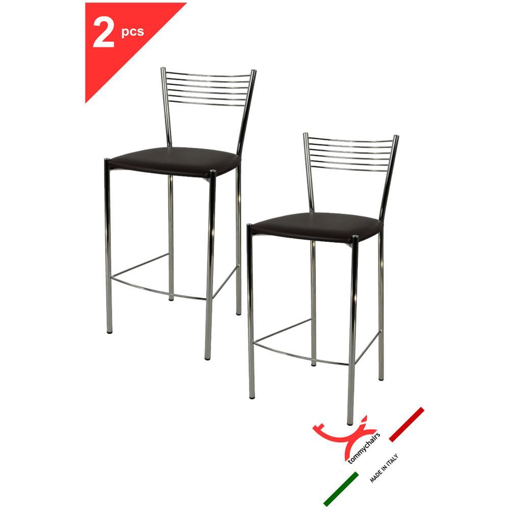 Tommychairs - Set 2 Sgabelli Per Cucina E Bar Moderni, Alti Con ...
