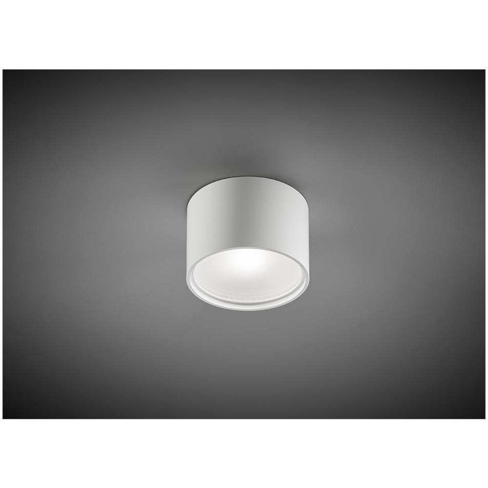 Abat Jour Cilindro vivida cube round plafoniera led a cilindro bianca 7w