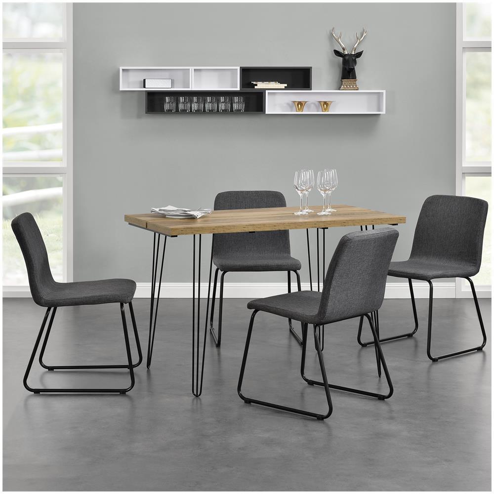 en.casa]® - Tavolo Da Pranzo Design Per 4 Persone - Effetto Legno ...