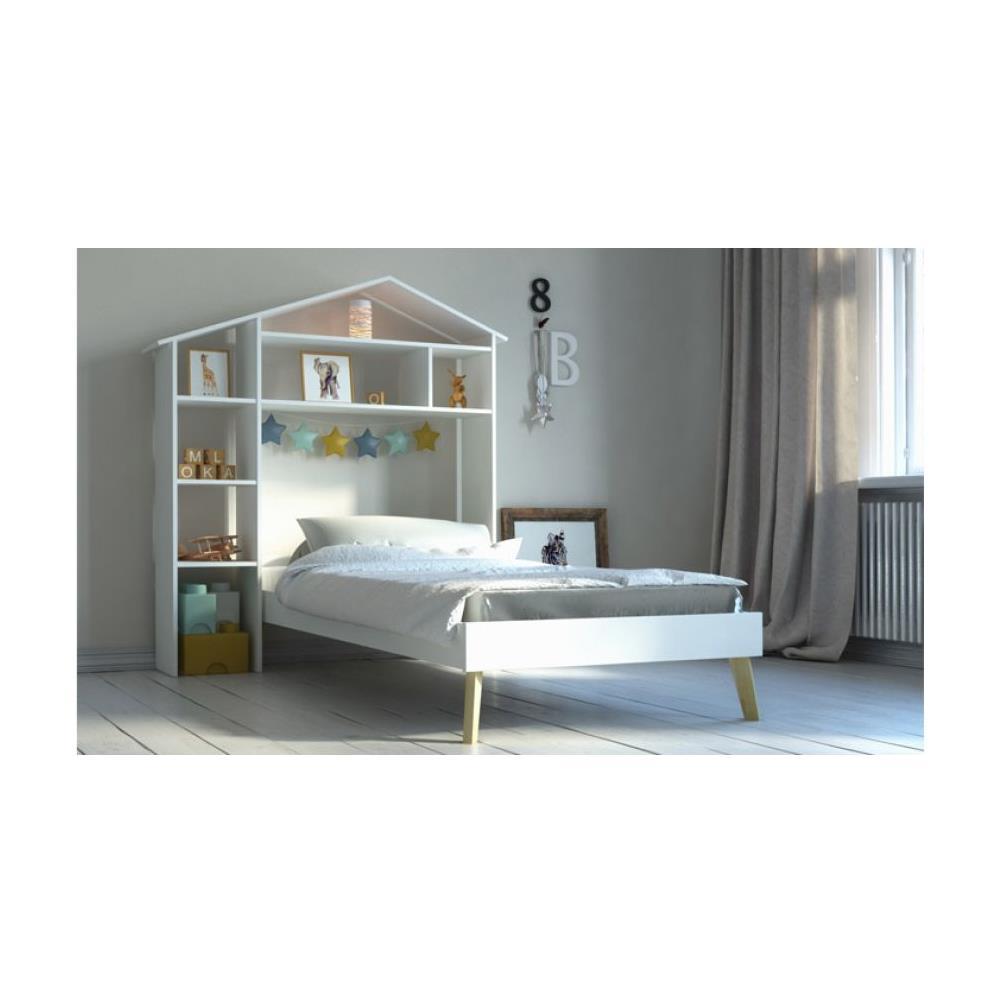 Come Costruire Una Testiera Letto miliboo letto bambino e testiera letto con nicchie 160 x 200 cm home