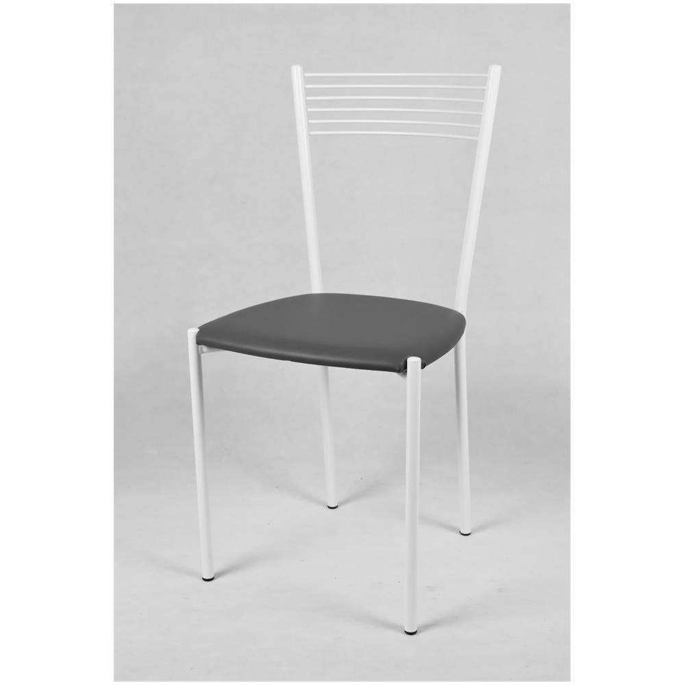 Tommychairs Set 4 Sedie Moderne E Di Design Elegance Per Cucina, Bar E Sala Da Pranzo, Con Struttura In Acciaio Verniciata Colore Bianco E Seduta In