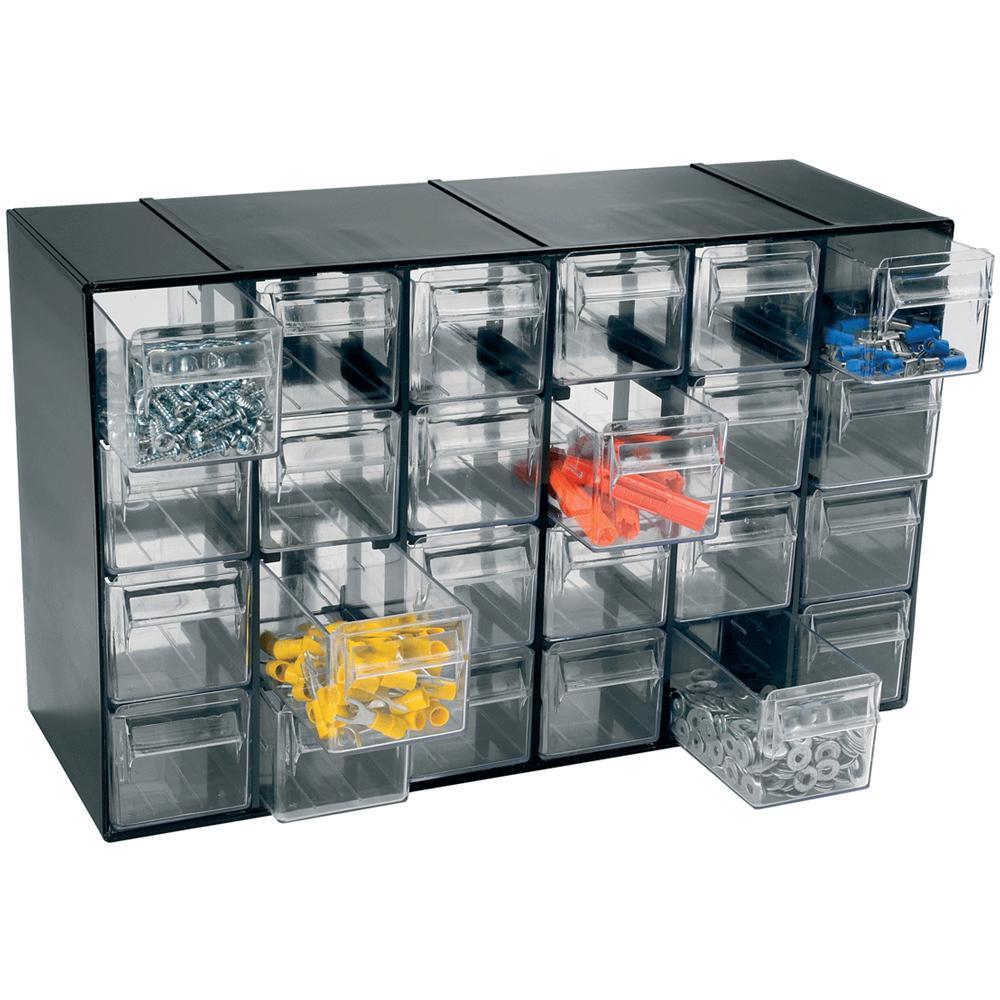art plast - cassettiera in plastica 24 cassetti da 38 x 23 x 15