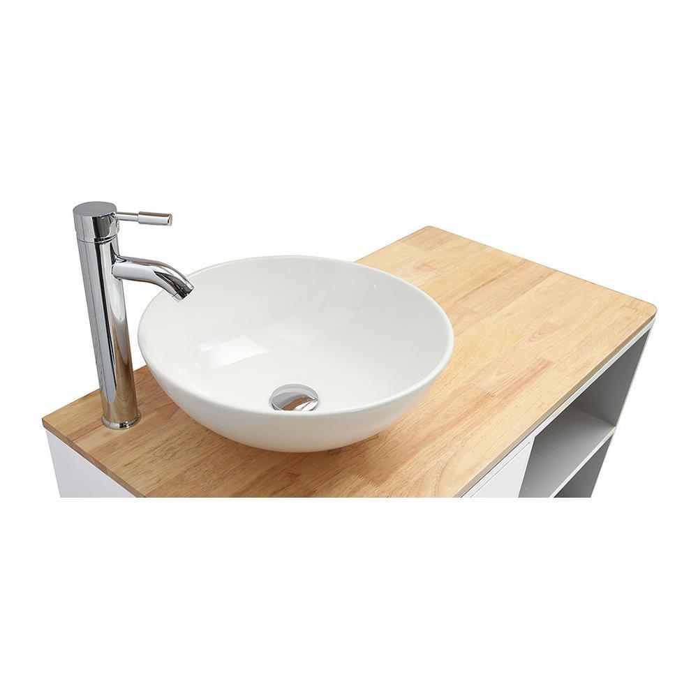 Lavandino Bagno Con Piede miliboo mobile da bagno con colonna e specchio bianco e legno (senza  lavandino) laïta