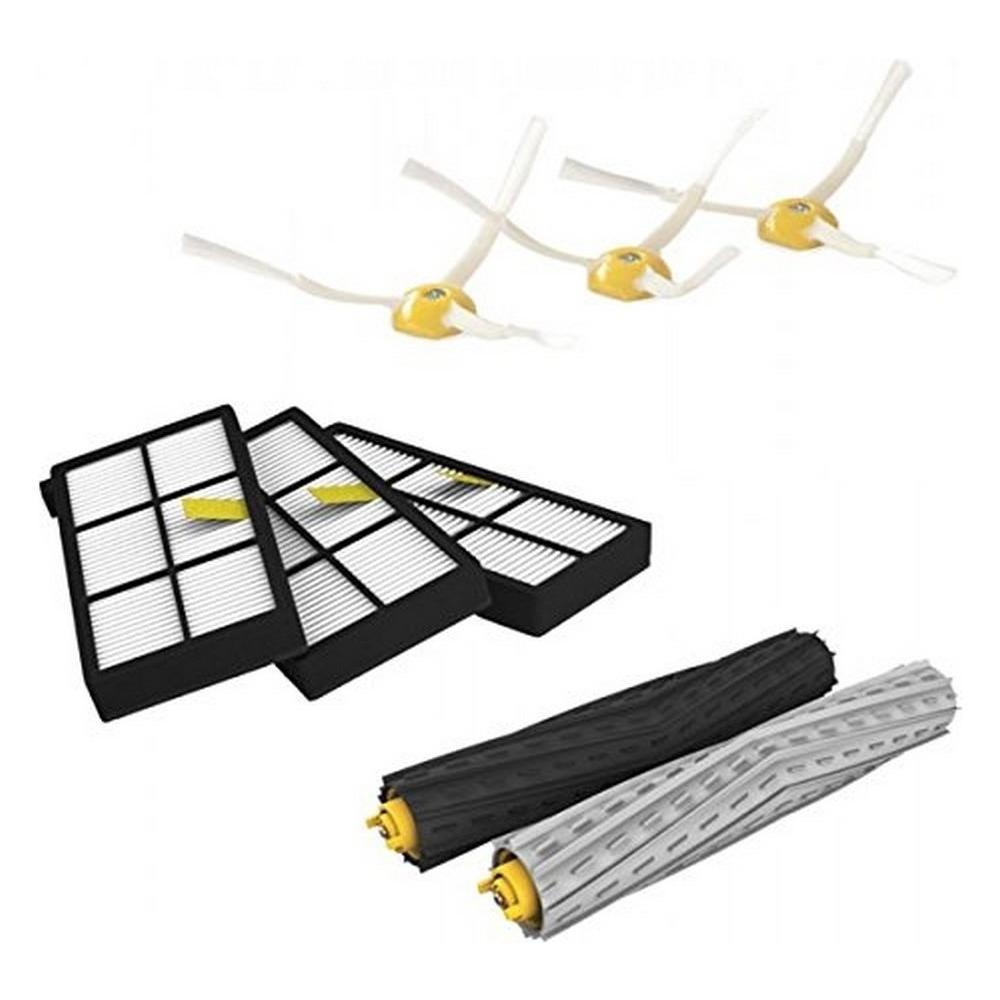Kit di Ricambio Spazzola laterale CNASA Kit di Ricambi,Accessori di Ricambio per iRobot Roomba 800 900 Serie Kit di Ricambi Filtro HEPA