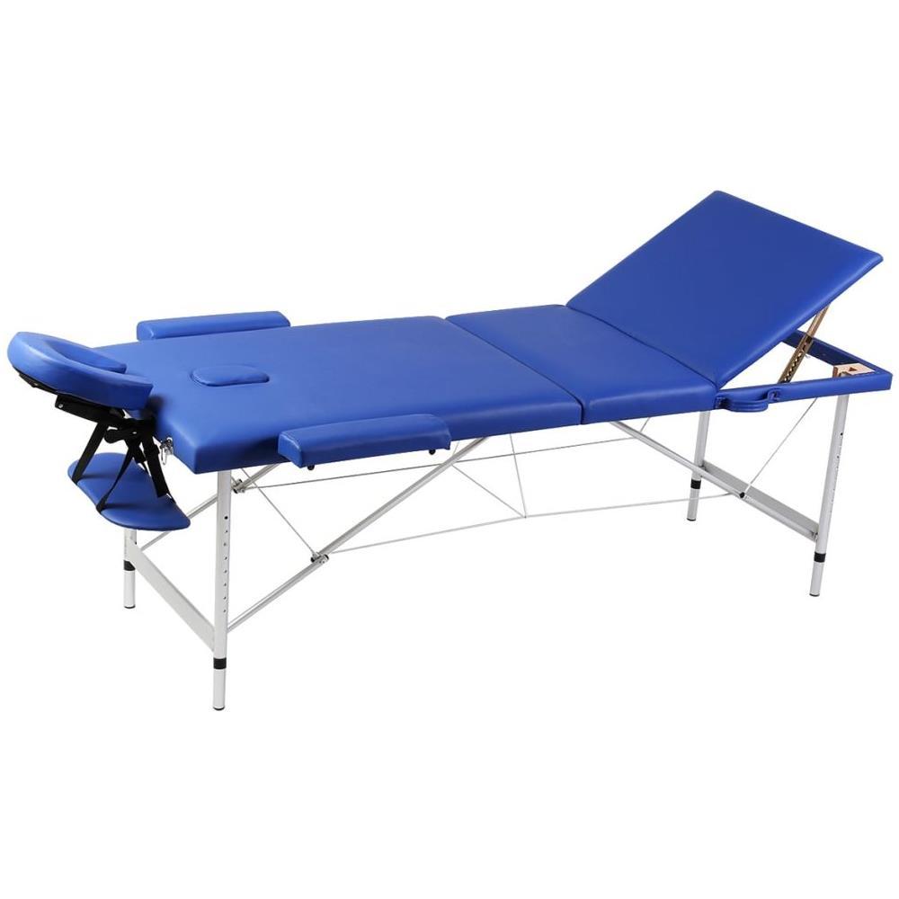 Lettino Pieghevole Massaggio.Vidaxl Lettino Pieghevole Da Massaggio Blu 3 Zone Con Telaio Alluminio