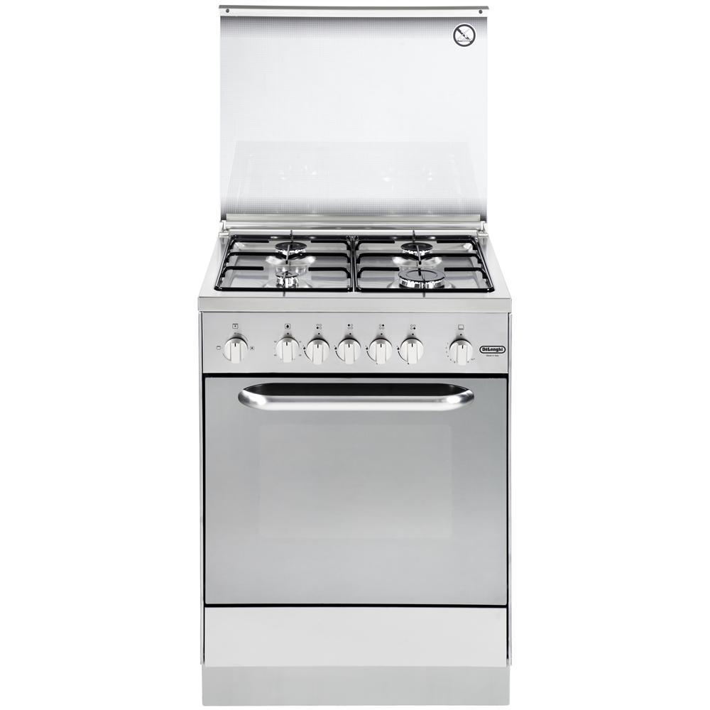 De longhi dgx 654 linea design cucina a 4 fuochi gas for Stufe a gas metano de longhi