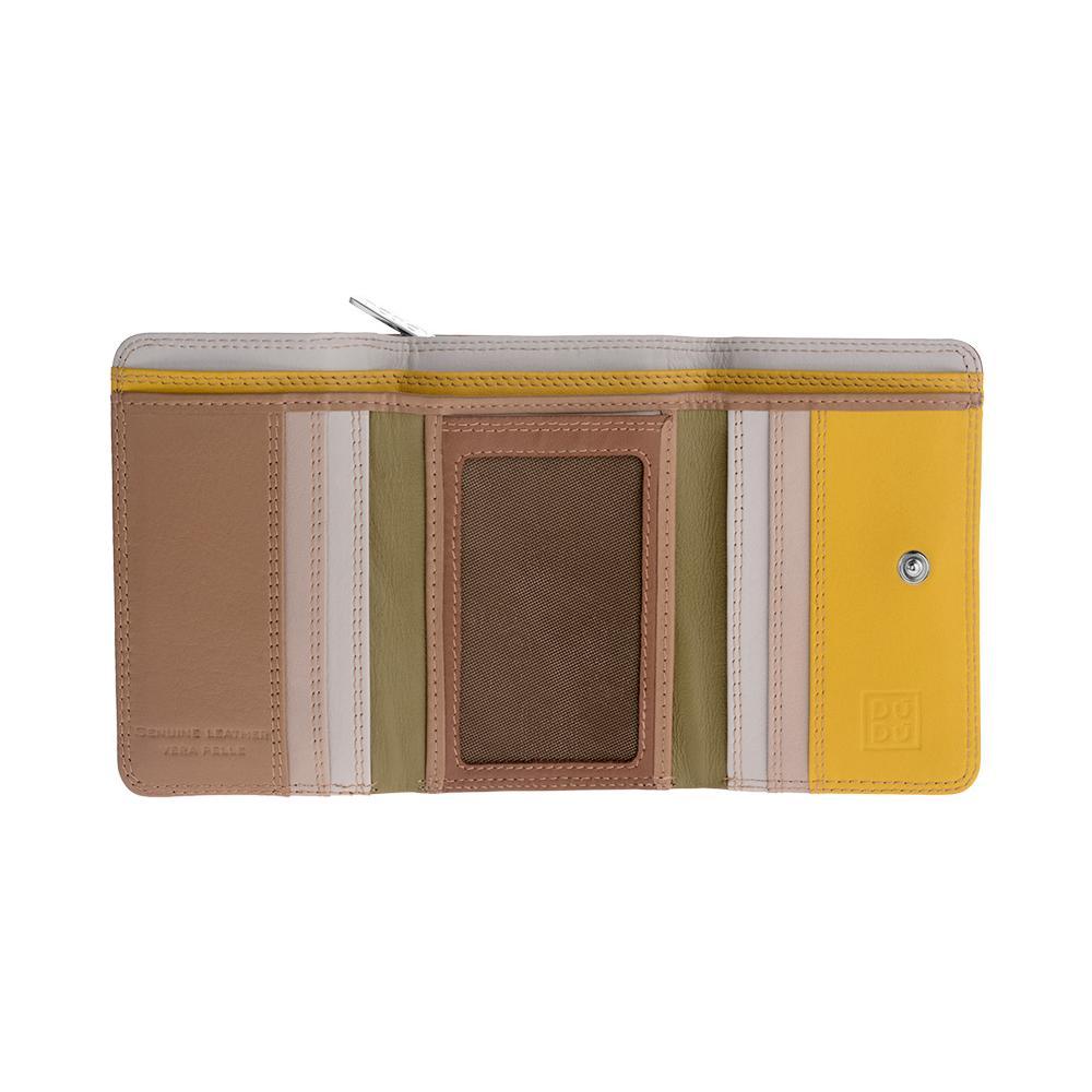 22c6b27e92 DuDu - Portafoglio Donna Piccolo In Pelle Multicolore Colorful Di Dudu  Safari - ePRICE