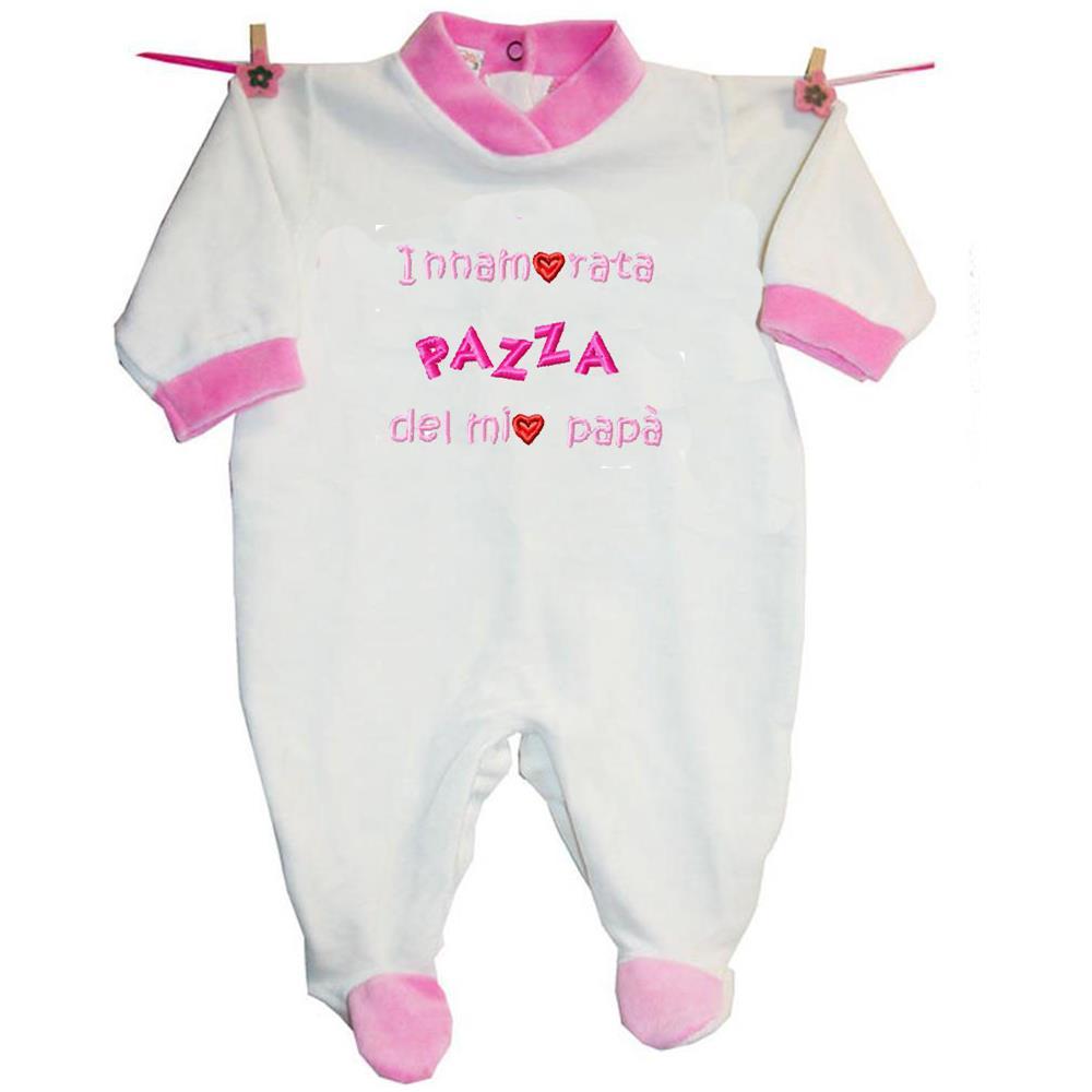 ZIGOZAGO - Tutina Innamorata Pazza Del Papà In Ciniglia Di Cotone ...