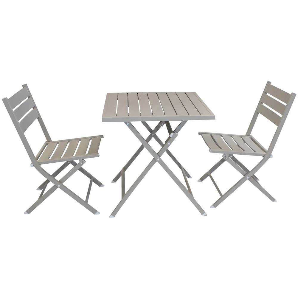Tavoli Alluminio Pieghevoli Usati.Milanihome Abelus Set Tavolo Da Giardino Pieghevole