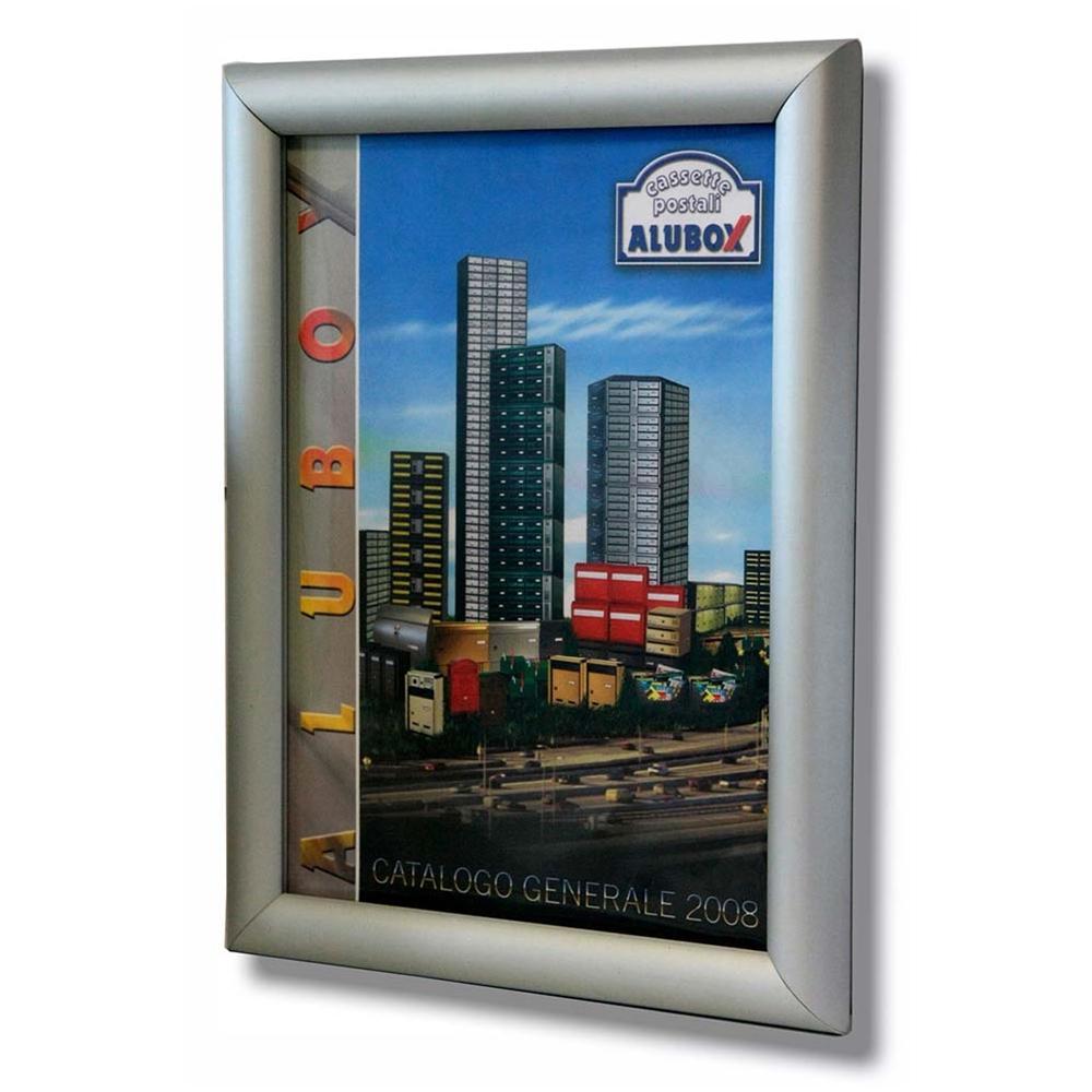 Porte In Alluminio Anodizzato alubox bacheca porta avvisi, alluminio anodizzato, apertura a scatto  formato a4
