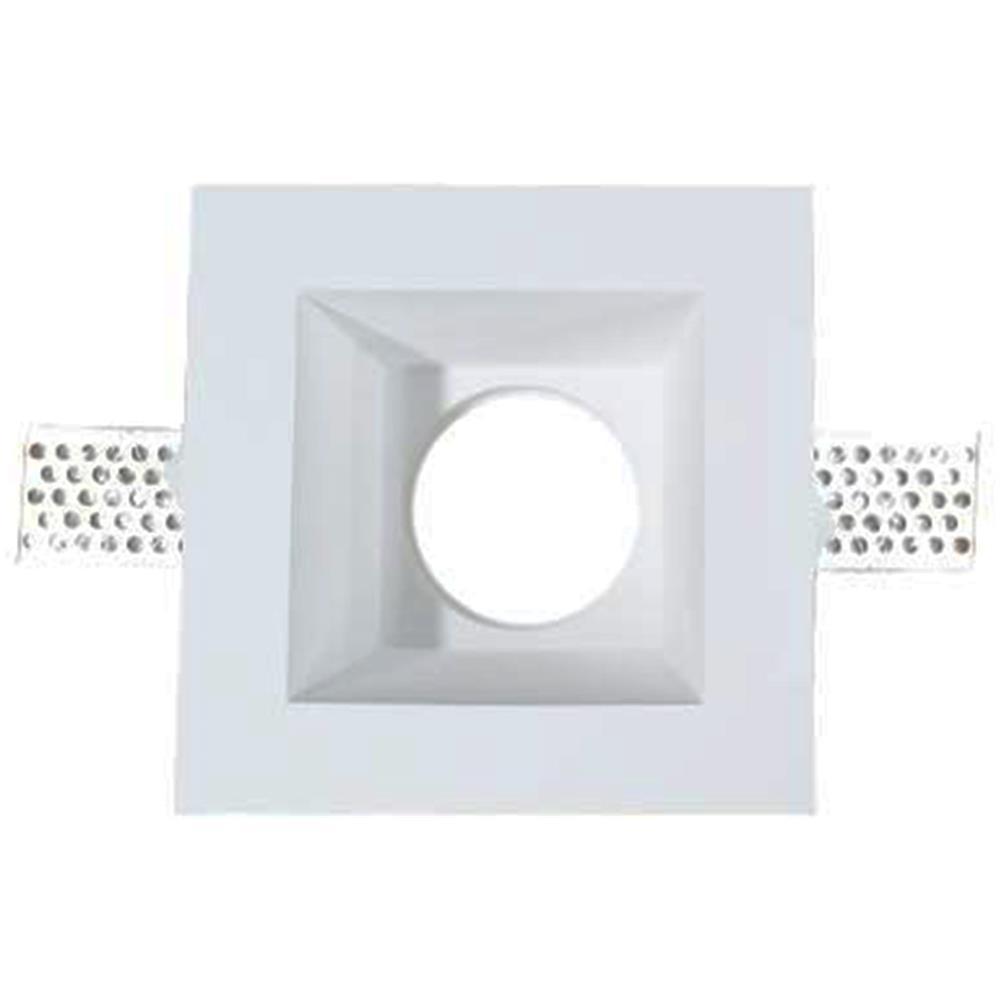 Faretti Incasso Di Gesso v-tac porta faretti led gu10 incasso quadrato gesso bianco vt-763 3649