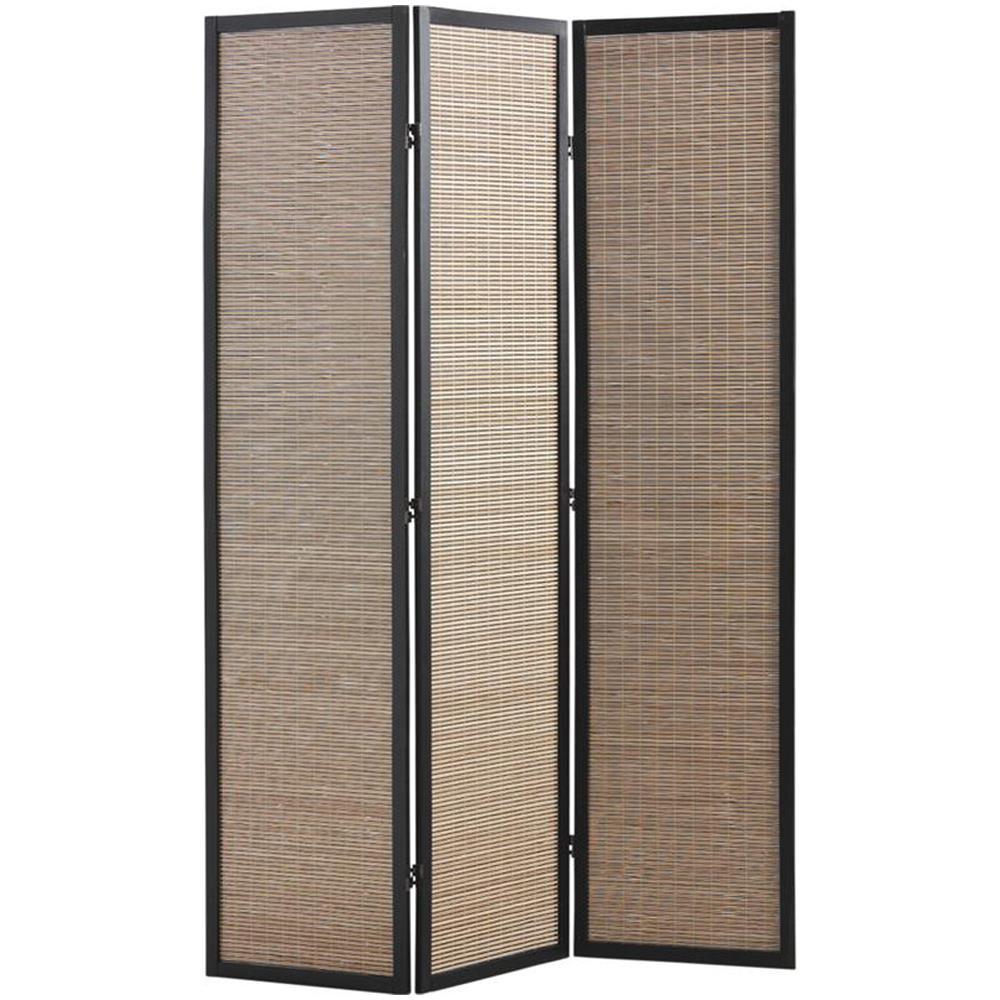 PEGANE - Paravento In Legno E Bambù Di 3 Pannelli - ePRICE