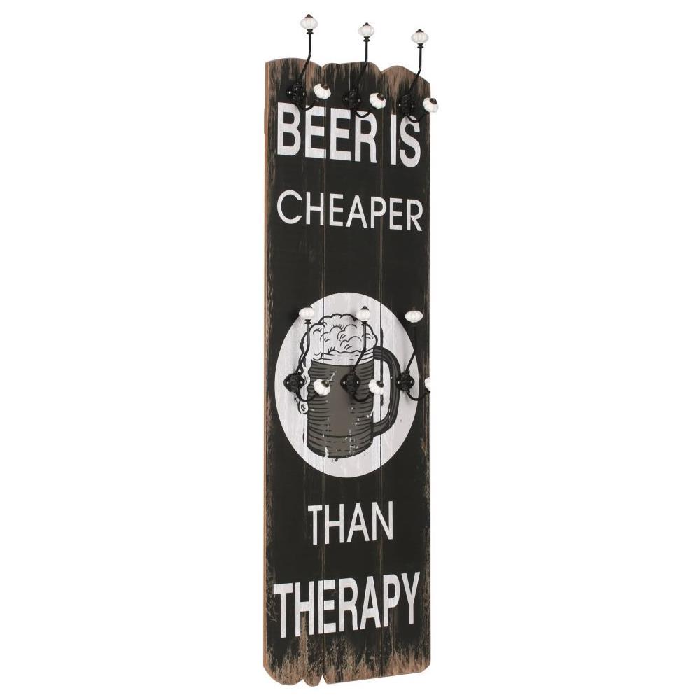 Attaccapanni Parete Con Pannello.Vidaxl Appendiabiti Da Parete Con 6 Ganci Beer Cheaper 120x40 Cm