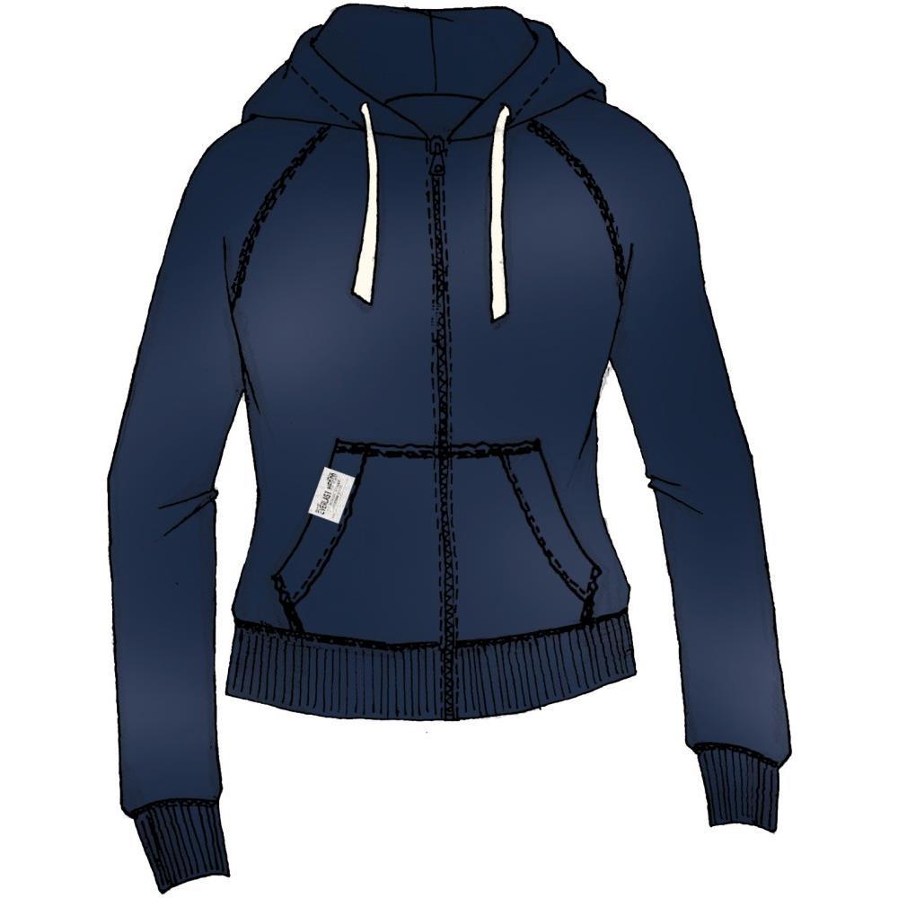 Felpa A Giubbino Aperta Con Zip e Tasche Con Profili Blu Con