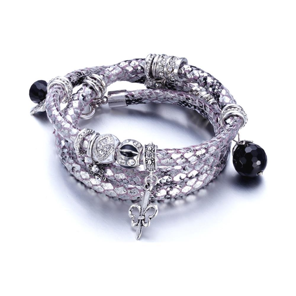ab8674aff18a9a Blue Pearls - Bracciale Serpente E Cristallo Swarovski Elements Argento -  Cry E178 J Argent - ePRICE