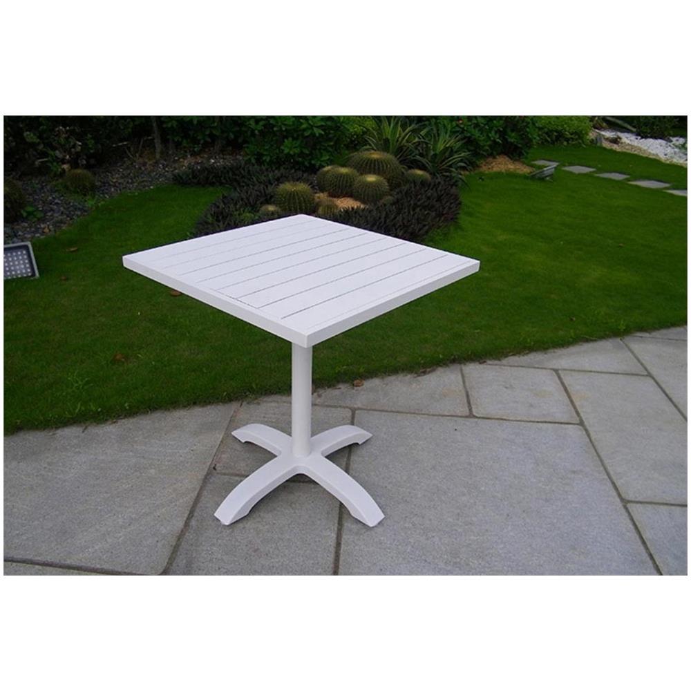 Tavoli Da Esterno Per Ristoranti.Milanihome Tavolo Quadrato Fisso In Alluminio Bianco 70 X 70 Da