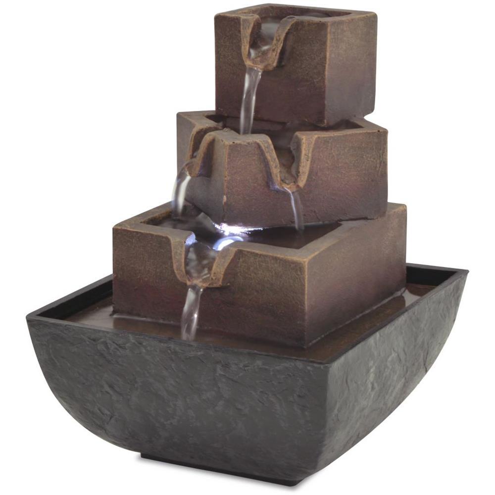 Fontana Da Interni Cascata.Vidaxl Fontana Da Interni Con Luce A Led In Poliresina Eprice