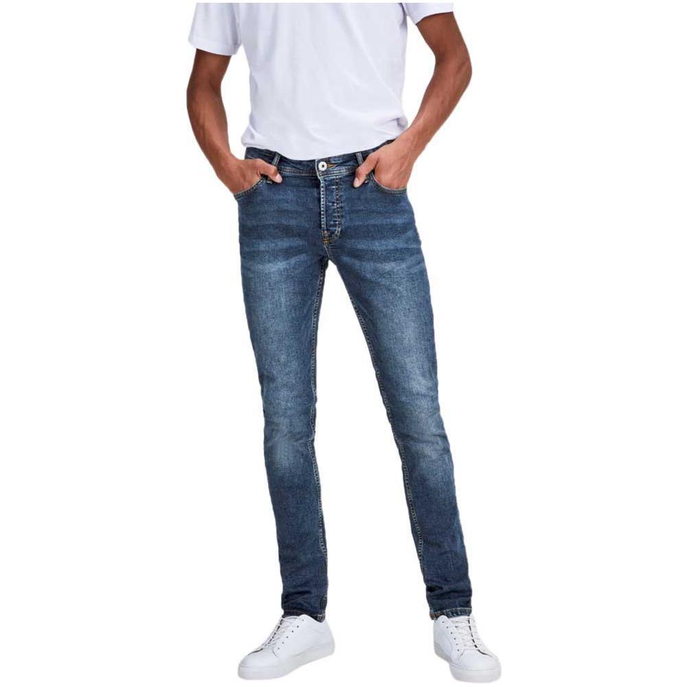 Jack /& Jones Glenn originale Slim Fit Uomo Jeans-Diversi Lavaggi