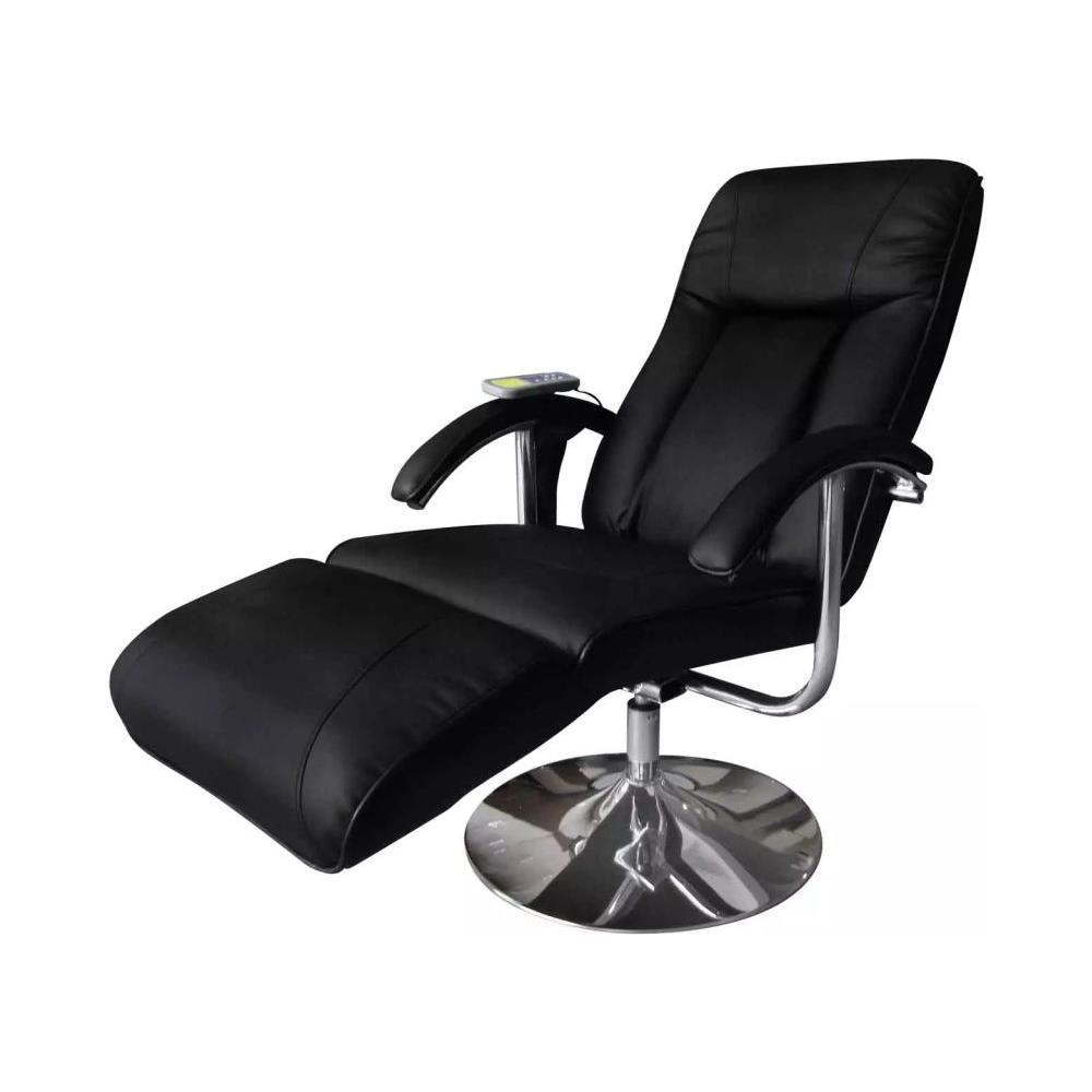 Poltrona Reclinabile Massaggiante.Vidaxl Poltrona Relax Massaggiante Reclinabile Elettrica Nera