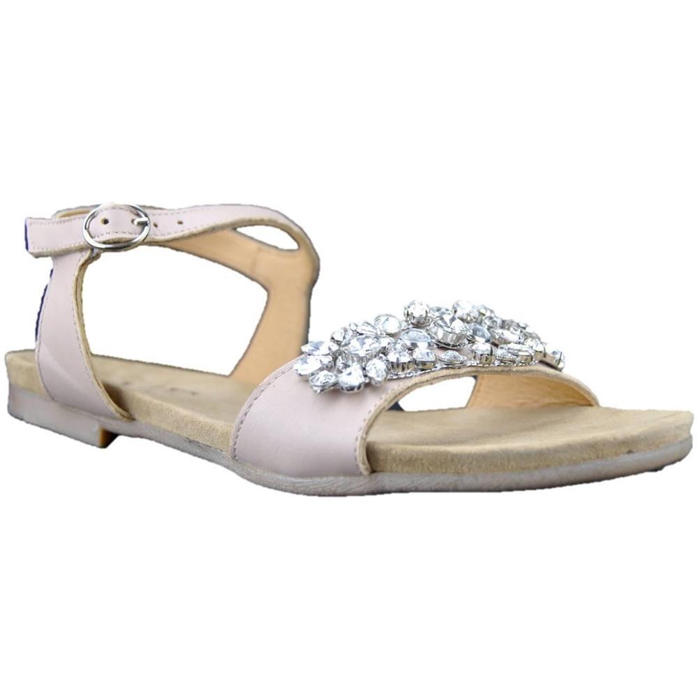 online store eedf0 955c6 MERCANTE DI FIORI Sandali Gioiello Donna In Pelle Rosa 35