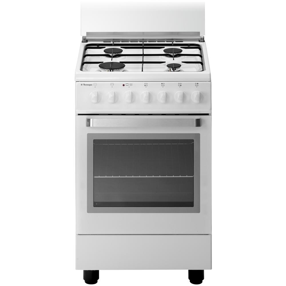 TECNOGAS - D12WS Cucina a 4 Fuochi Gas Forno a Gas Dimensione 50 x ...