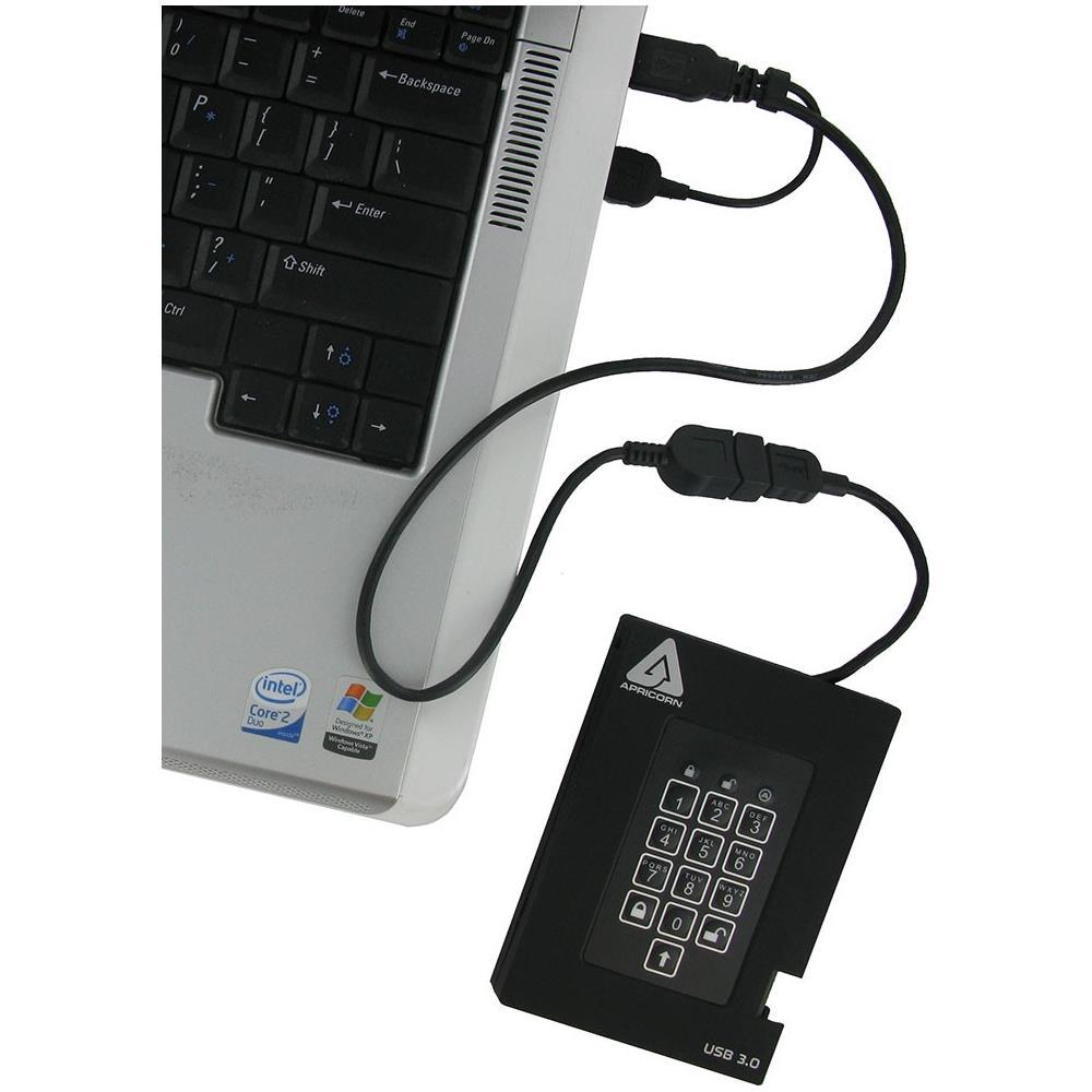 ab032280ddcc07 APRICORN - Hard Disk Esterno Aegis Padlock Fortress 2TB Interfaccia USB 3.0  Colore Nero - ePRICE