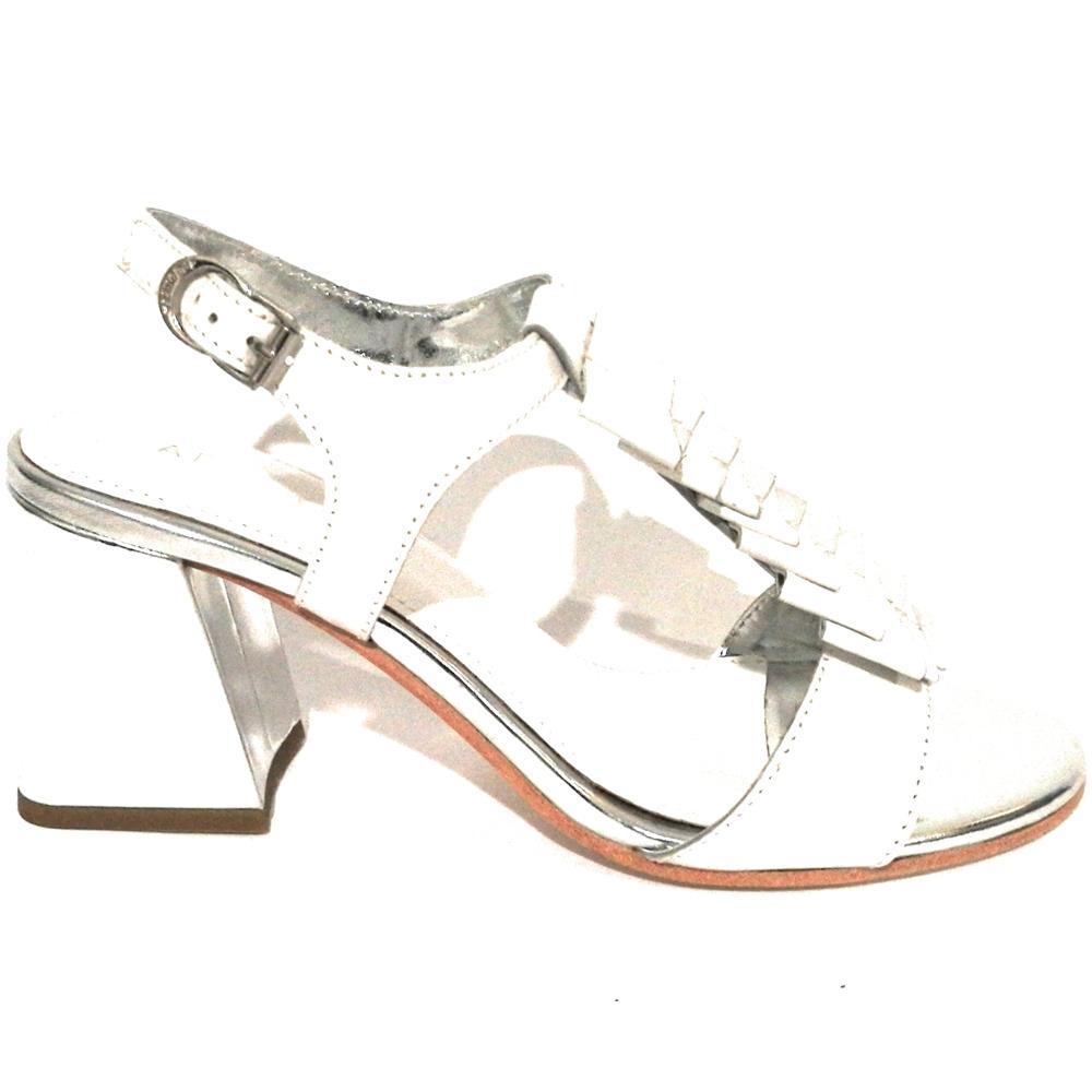 93a6f104f58bae APE PAZZA Scarpe Donna Apepazza Sandalo Mod. Paulette Tc 75 Pelle Bianco /  Silver Ds18ap12