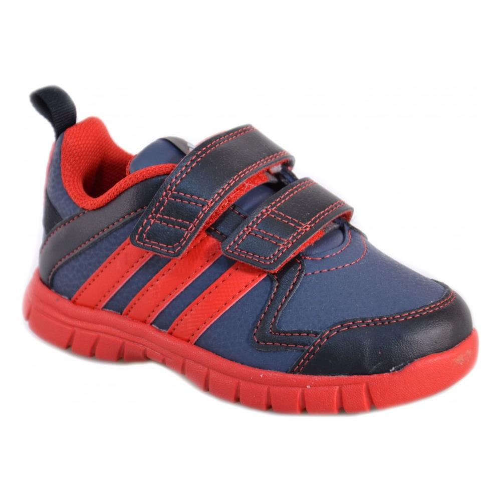 Adidas Sta Fluid 3 Cf I Scarpe Bambino Grigie Pelle Strappi M20253 22. Zoom