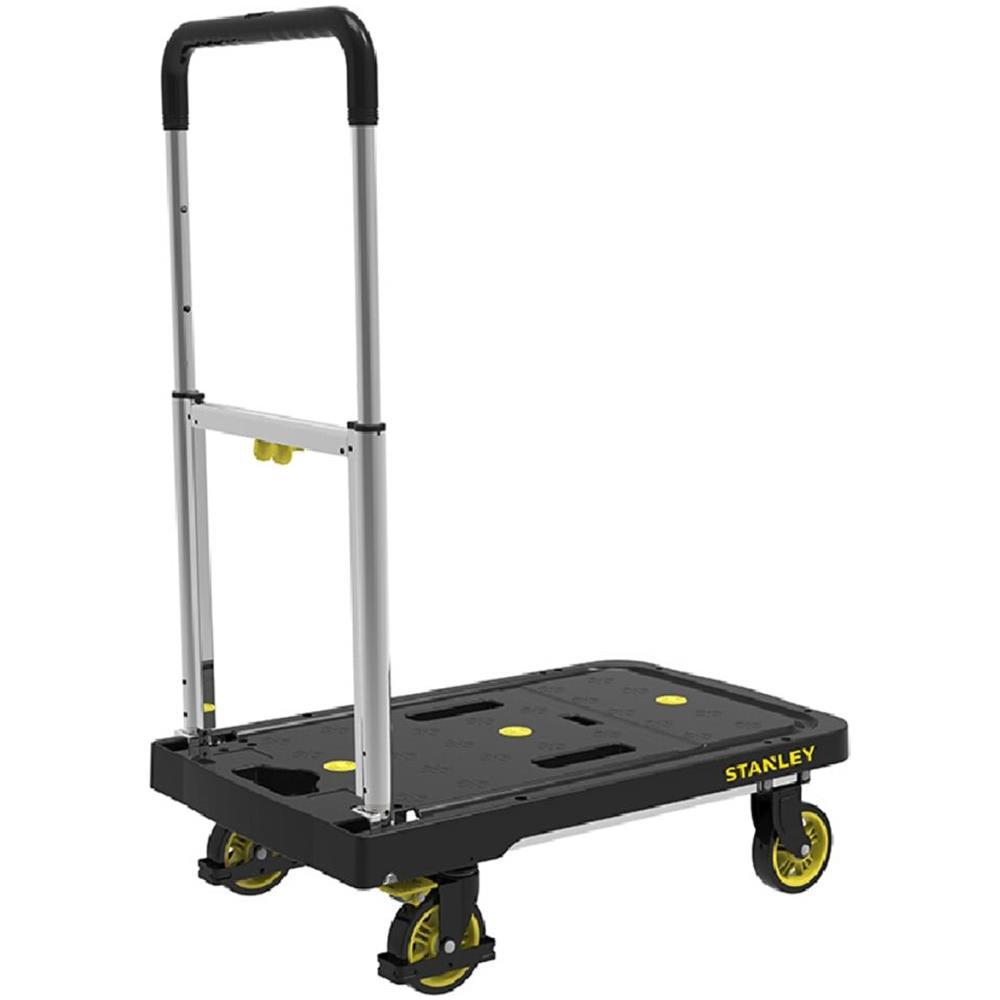 Carrello a pianale manuale da trasporto pieghevole carrelli pianale nero 150kg