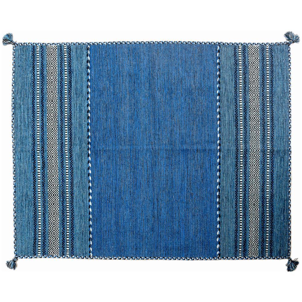 Tappeti Bagno Su Misura Torino dmora tappeto moderno kansas, stile kilim, 100% cotone, blu, 140 x 70 cm
