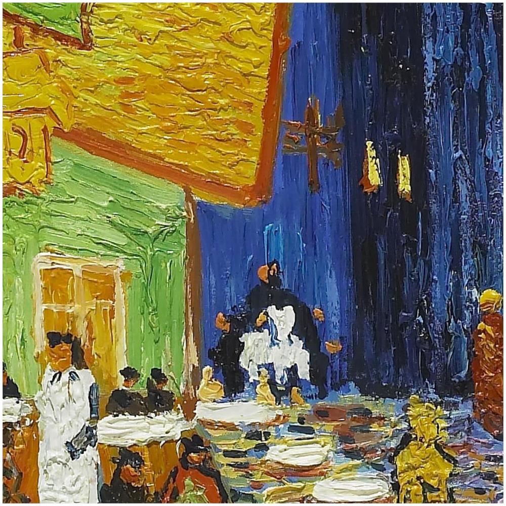 Niik Stampa Vincent Van Gogh 137 X 101 Cm Terrazza Del Caffè La Sera Place Du Forum Arles Falso D Autore Su Tela